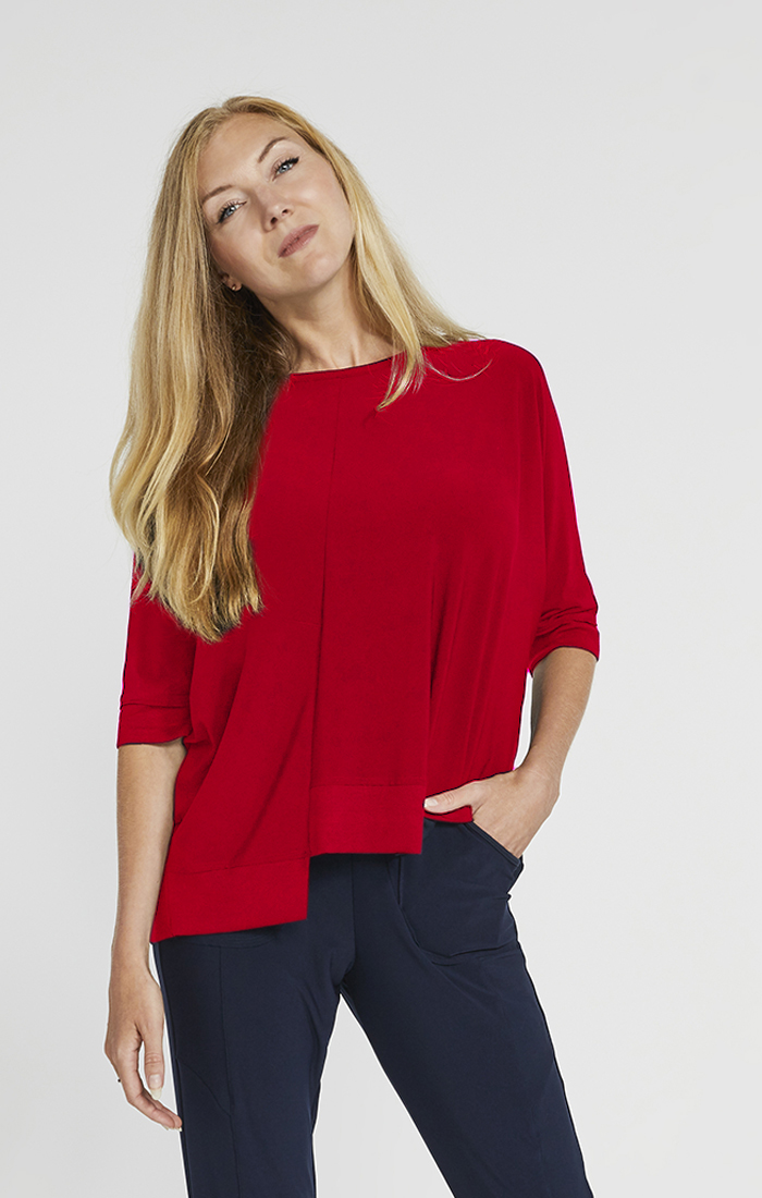 Sympli Motion Trim Boxy Top Style 22229-4, 3 Colors Available