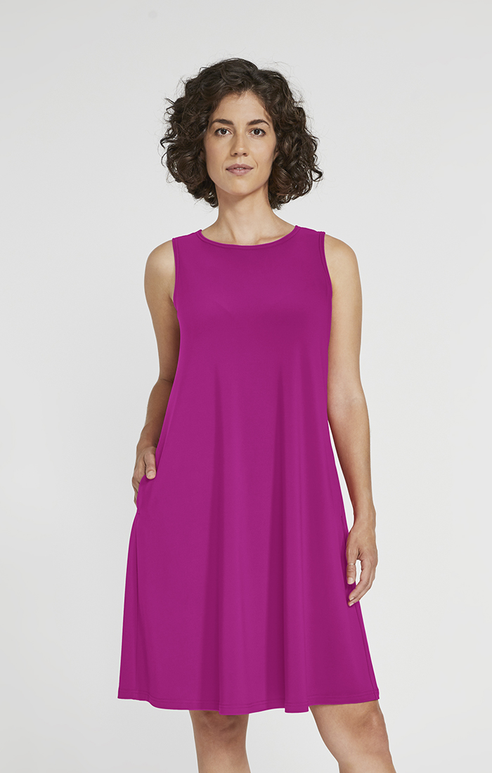 Sympli Womens Sleeveless Trapeze Dress Style 2894S, 2 Colors Available
