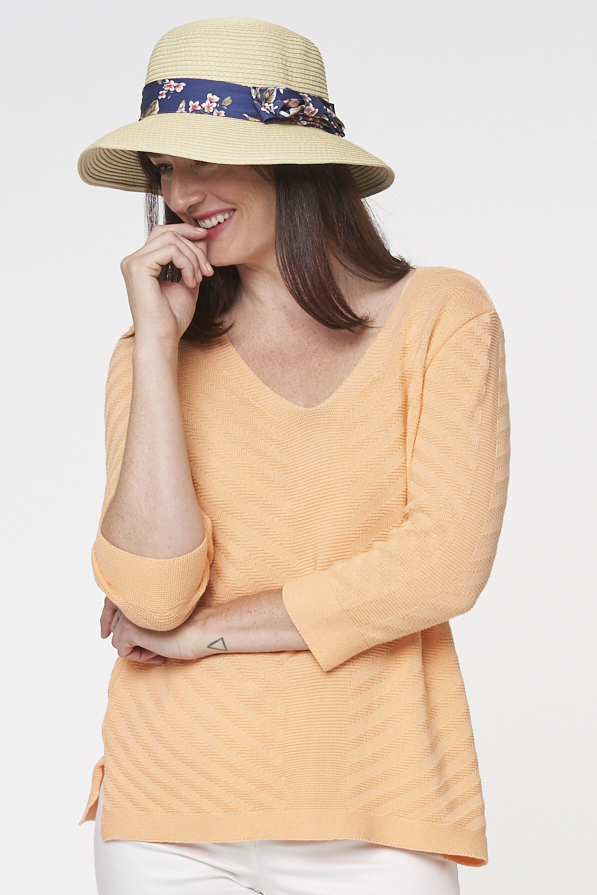 Parkhurst Pullover Style 70119 Sonia V-Neck Pullover, 6 Colors Available