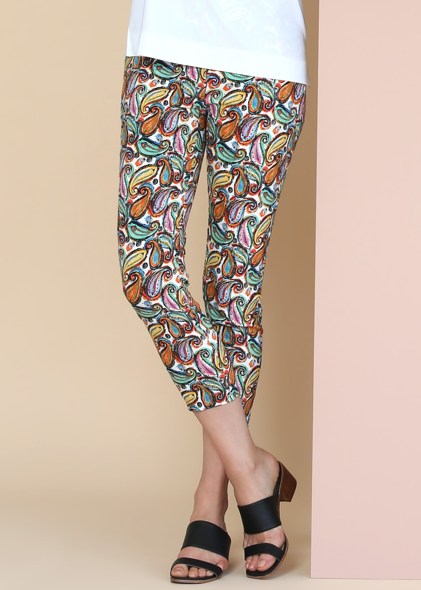 Lisette L. Thinny Crop Pant Style 77502 Liberty Paisley Color Bright Multi