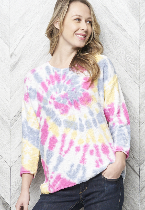 Parkhurst Pullover Style 87227 Dominique Tie Dye, 3 Colors Available
