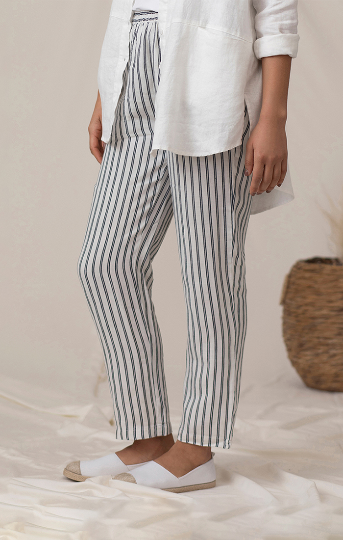 Sympli 100% Linen Narrow Ankle Pant Style LW2702, 4 Colors Available
