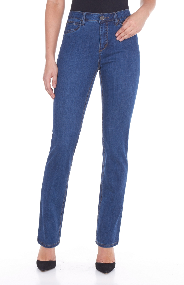 French Dressing Jeans Olivia Straight Leg Jeans, Style 2371250 Supreme Denim, Mid-Rise, 3 Colors Available