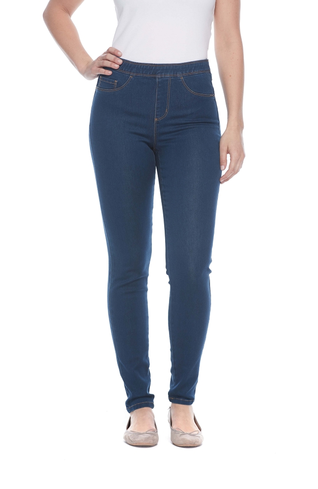 French Dressing Jeans Pull-On Slim Jegging Style 272506N D-LUX Denim, 2 Colors Available