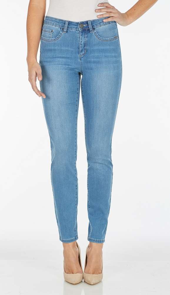 French Dressing Jeans Olivia Slim Leg Style 2762630 Cool Denim, 2 Colors Available