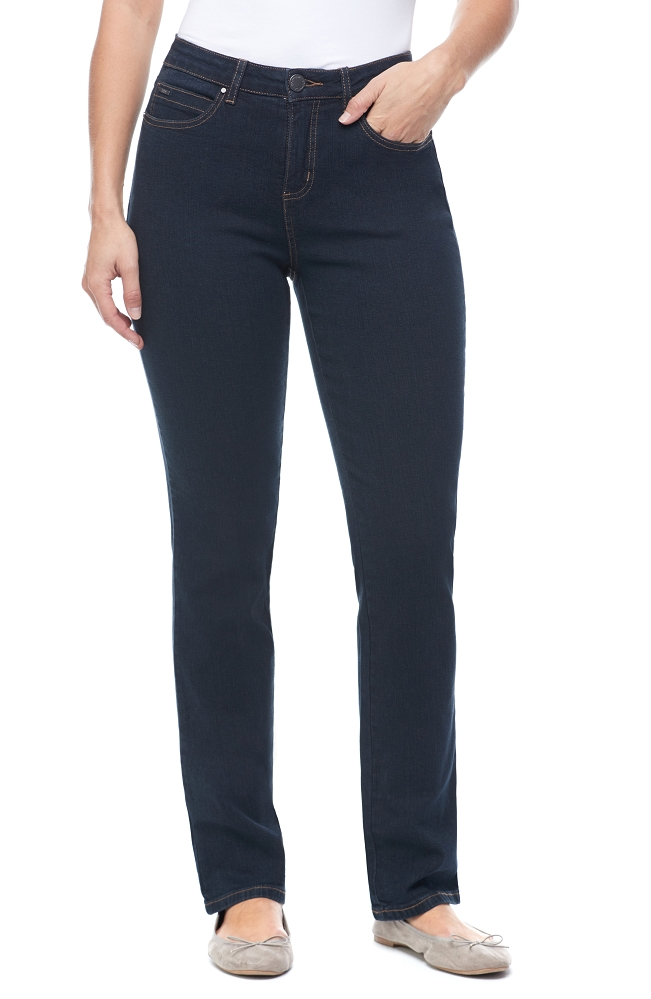 French Dressing Jeans Olivia Straight Leg Jeans, Style 2967002 Classic Denim, Mid-Rise Color Midnight