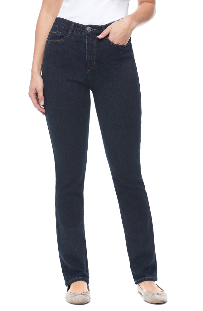 French Dressing Jeans, Suzanne Straight Leg Style 6043002 Classic Denim, High-Rise, Color Midnight