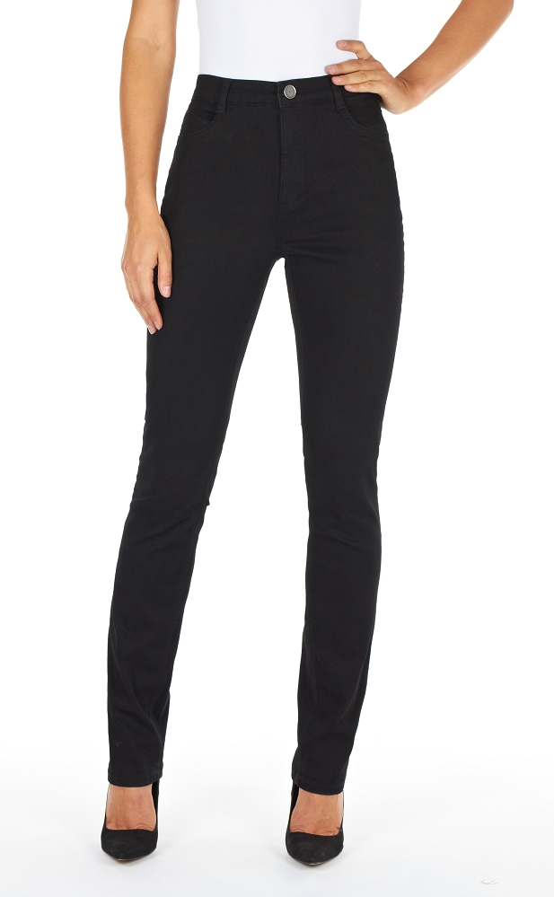 French Dressing Jeans Suzanne Relaxed Slim Leg Style 6473250 Supreme Denim, High Rise, 3 Colors Available