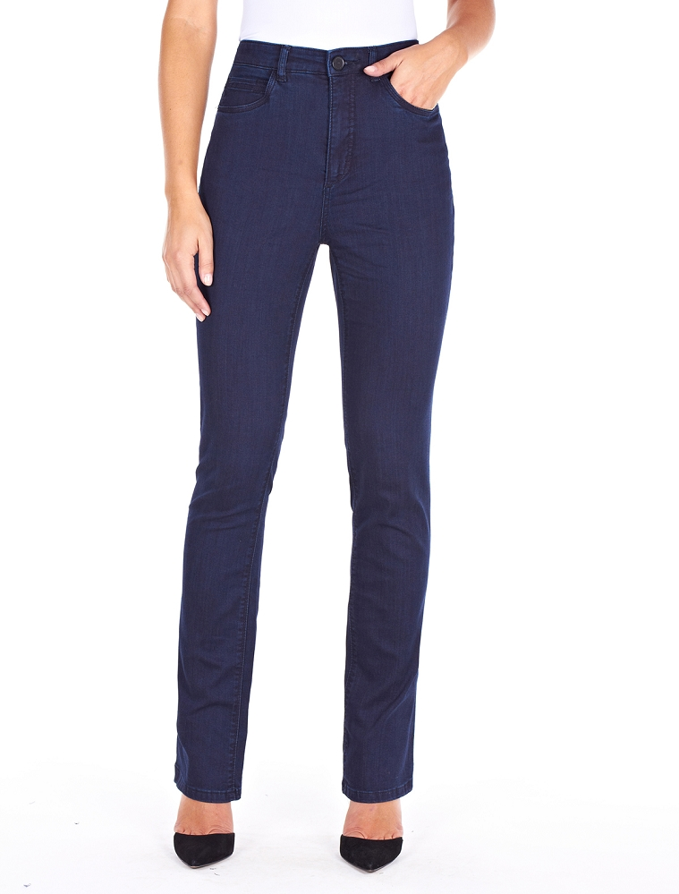 French Dressing Jeans Peggy Straight Leg Style 6627250 Supreme Denim, High Rise, 3 Colors Available