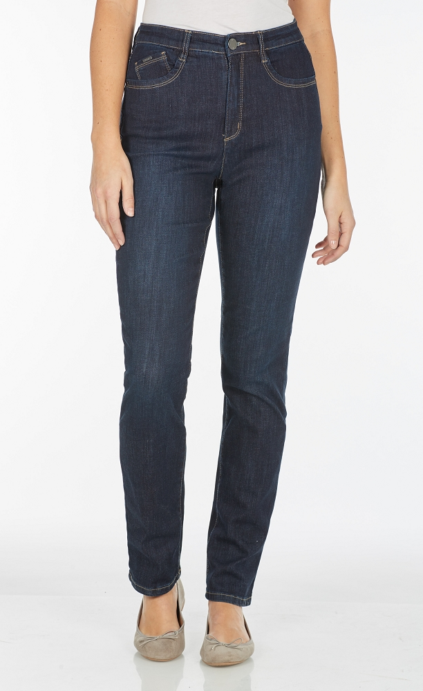 French Dressing Jeans Peggy Straight Leg Style 6804630 Cool Denim, High-Rise, 2 Colors Available