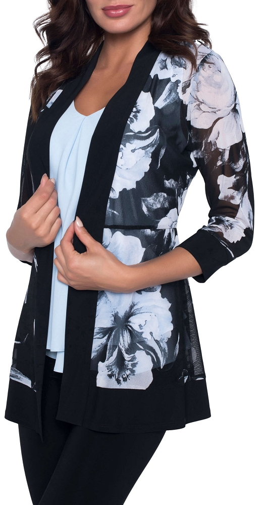 Frank Lyman Womens Floral Cardigan, Style 186516 2 Colors Available
