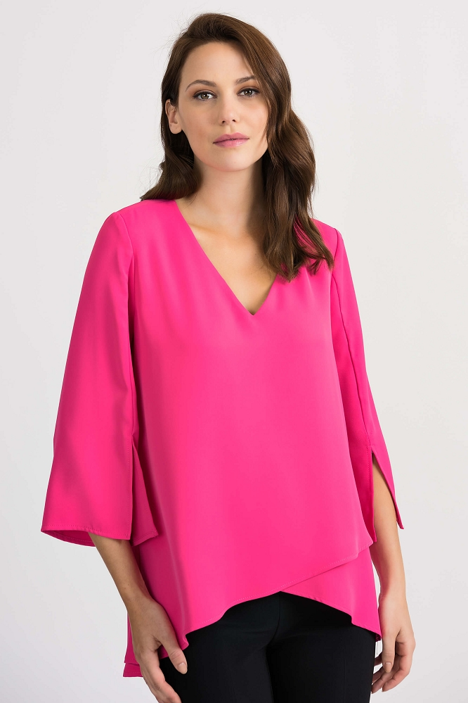 Joseph Ribkoff Womens Blouse Style 201085 Color Pink