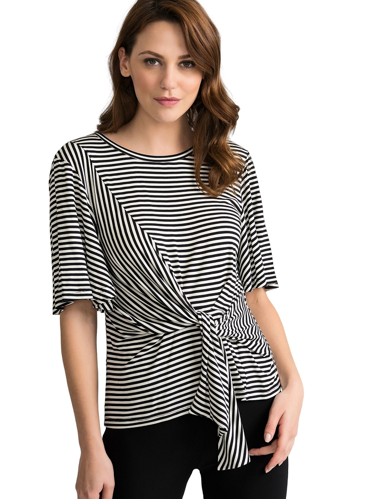 Joseph Ribkoff Womens Striped Blouse Style 202190