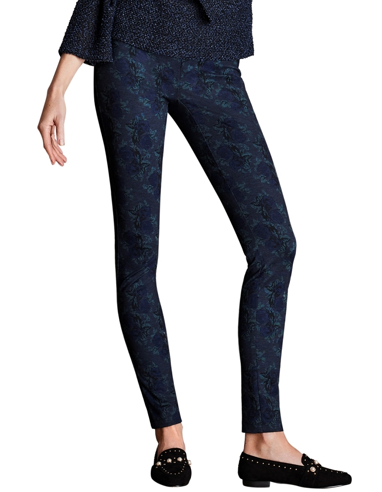 Lisette L. Thinny Pant Style 39944 Denim Flower Print PDR Color Navy