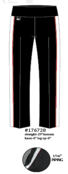 Lisette L. True Straight Pants Style 176728 Athleisure Kathryn PDR Color Black