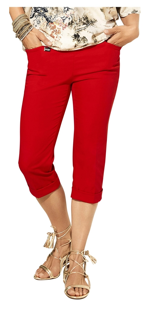 Lisette L Essentials, Capri Cuffed Pants  Style 26079 Jupiter Cotton Stretch (4 Colors Available)