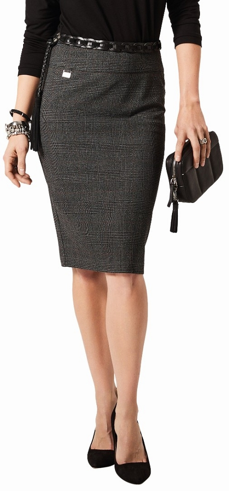 Lisette L. Skirt Style 279709 Cambridge Plaid Jacquard Color Black