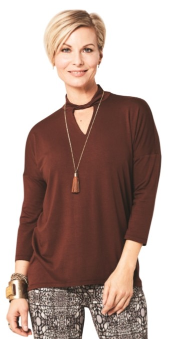 Lisette L Fall Tops Style 222337 Sienna Jersey (5 Colors Available)