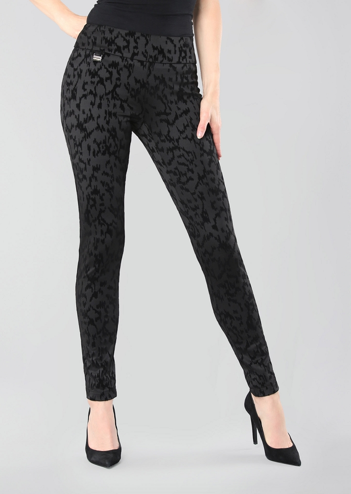 Lisette L. Thinny Pant Style 69244 Dover Print Flocking Color Black