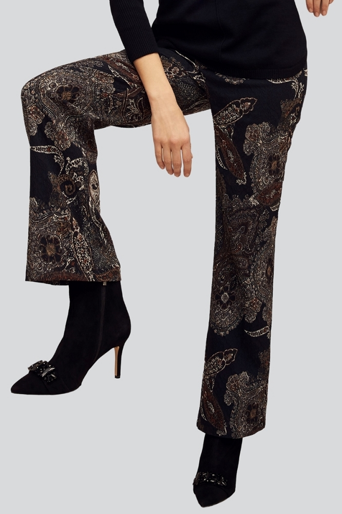 Lisette L. Palazzo Pant Style 732645 Middleton Paisley jacquard Color Rust