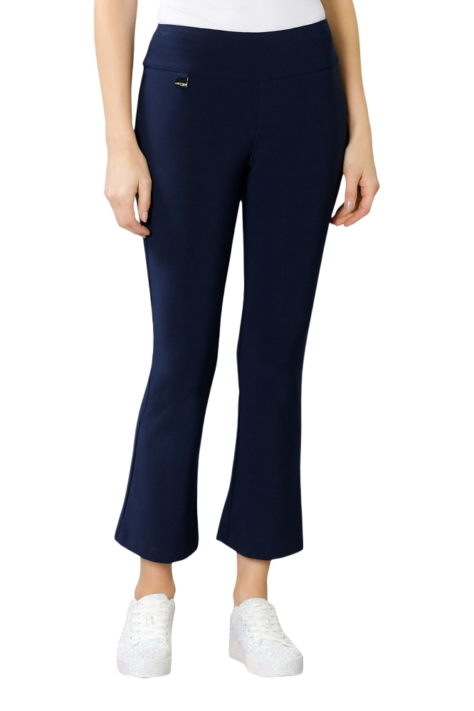 Lisette L, Crop Ankle Flare Pants, Style 171747 Emma Knit, Color Marine Blue