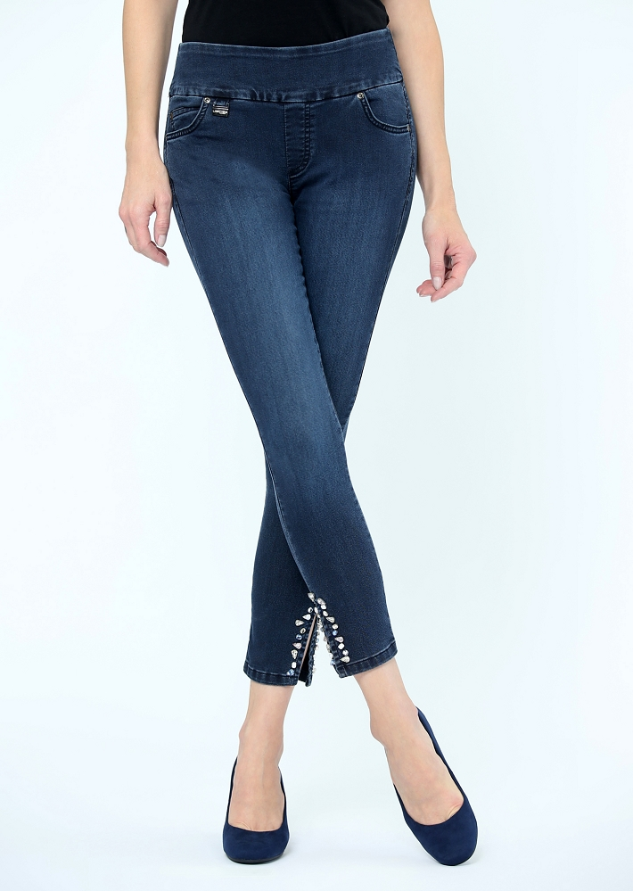 Lisette L. Thinny Crop Style 541935 Bryana Denim, Color Denim Blue