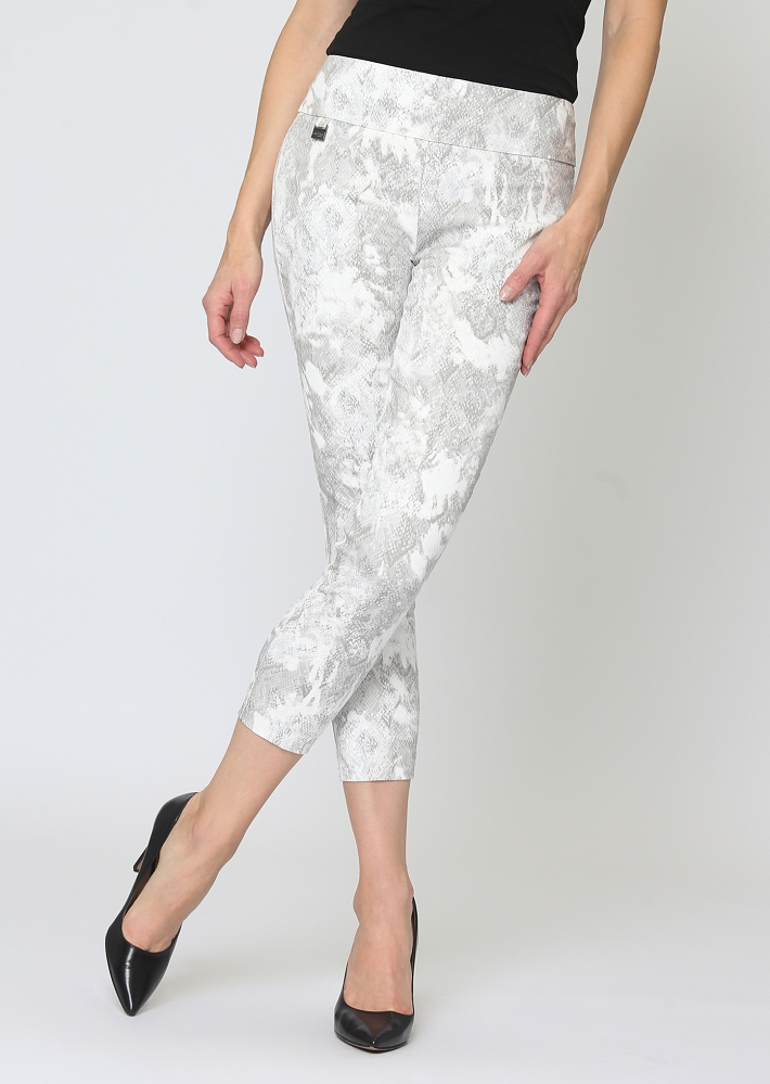 Lisette L. Thinny Crop Pant Style 61902 Cobra Print Color Grey