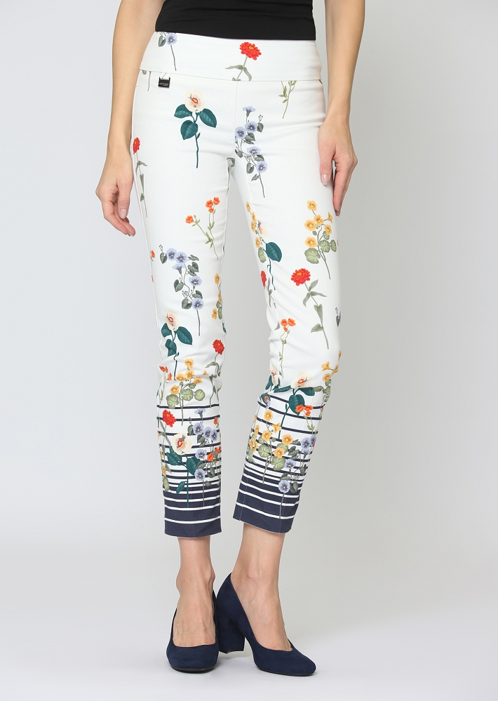 Lisette L. Slim Ankle Pant Style 64301 Nautical Garden Color Navy