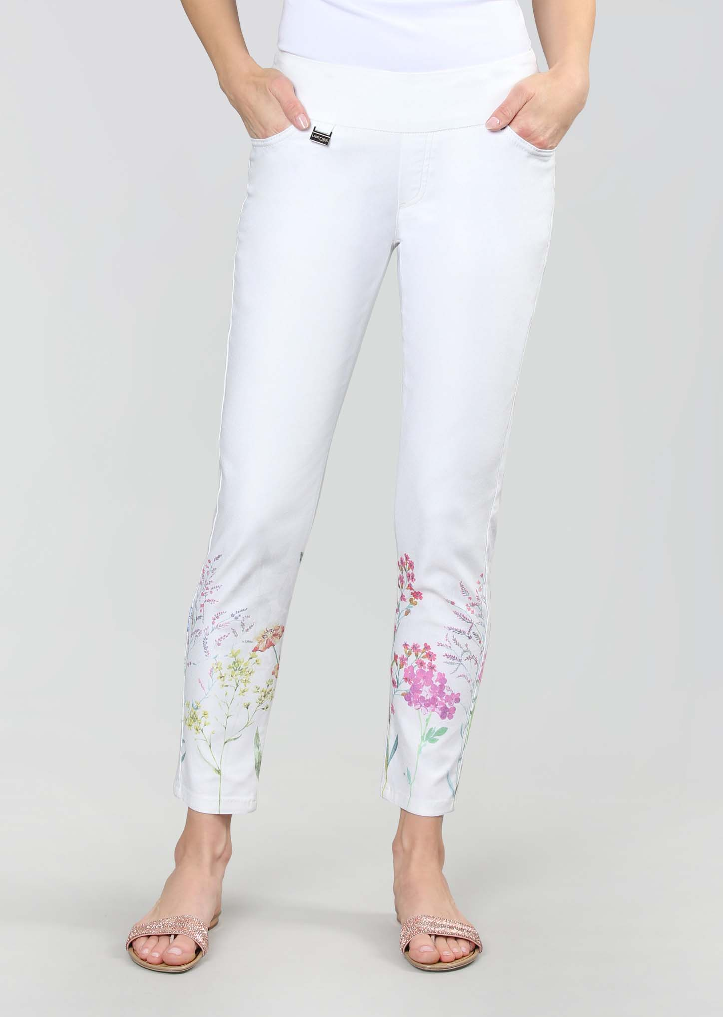 Lisette L. Slim Ankle Narrow Pant Style 766616 Matisse Floral Print Color Bright Multi