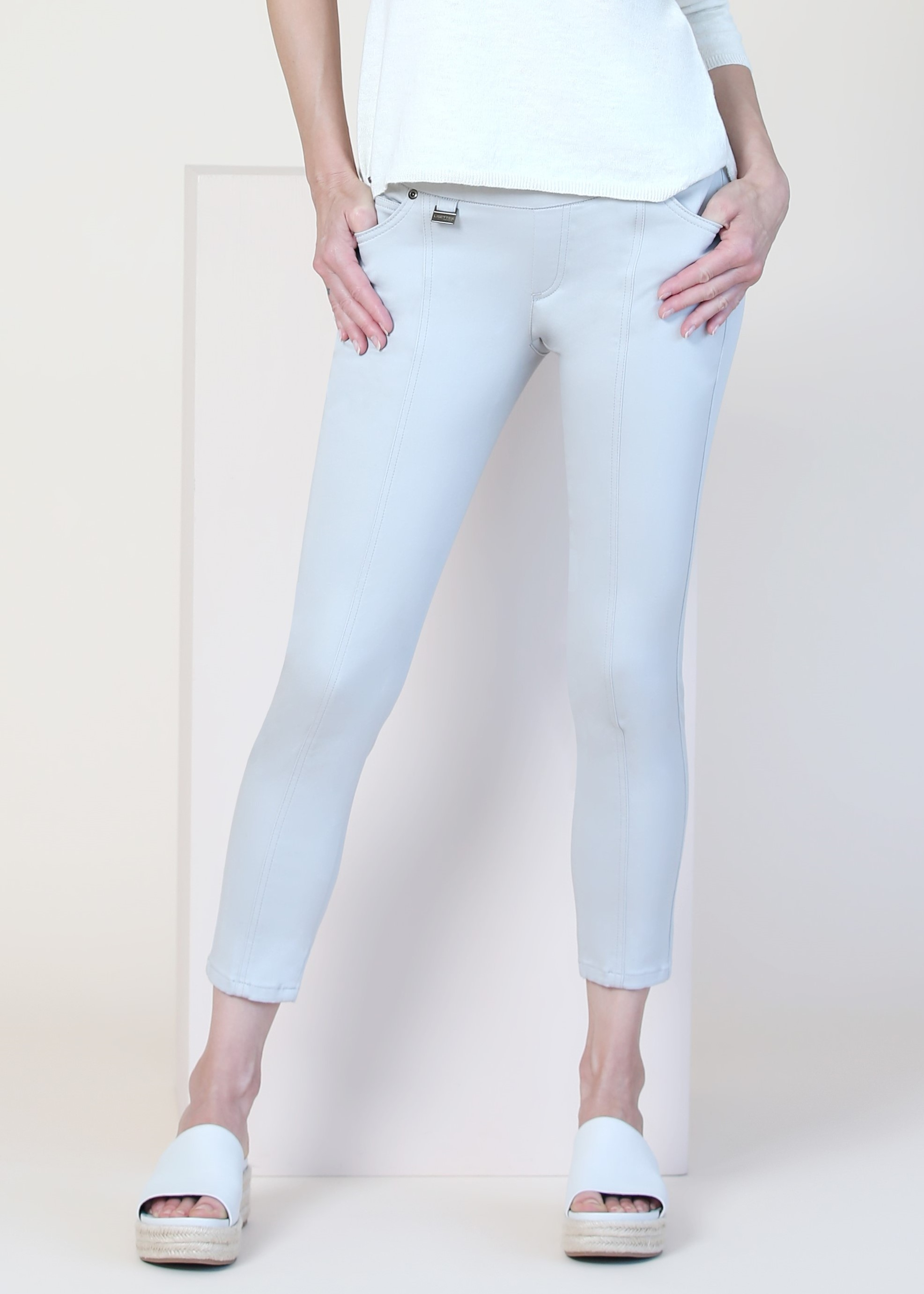 Lisette L. Slim Ankle Crop Pant Style 798964 Lena Denim Color Powder Blue