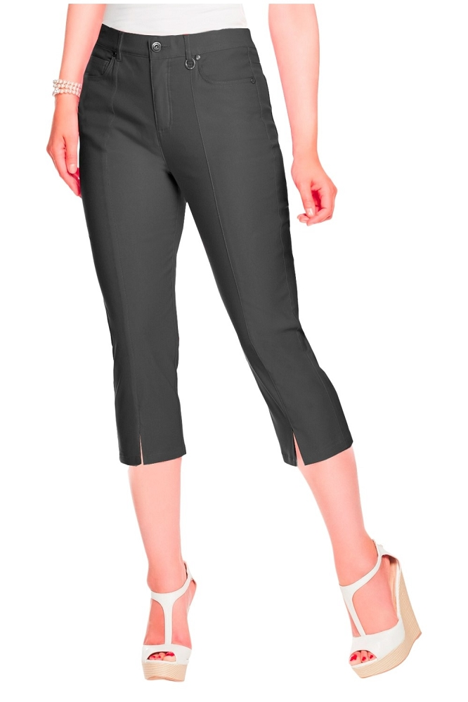 Simon Chang Micro Twill Capri, Style 5353, Color Black