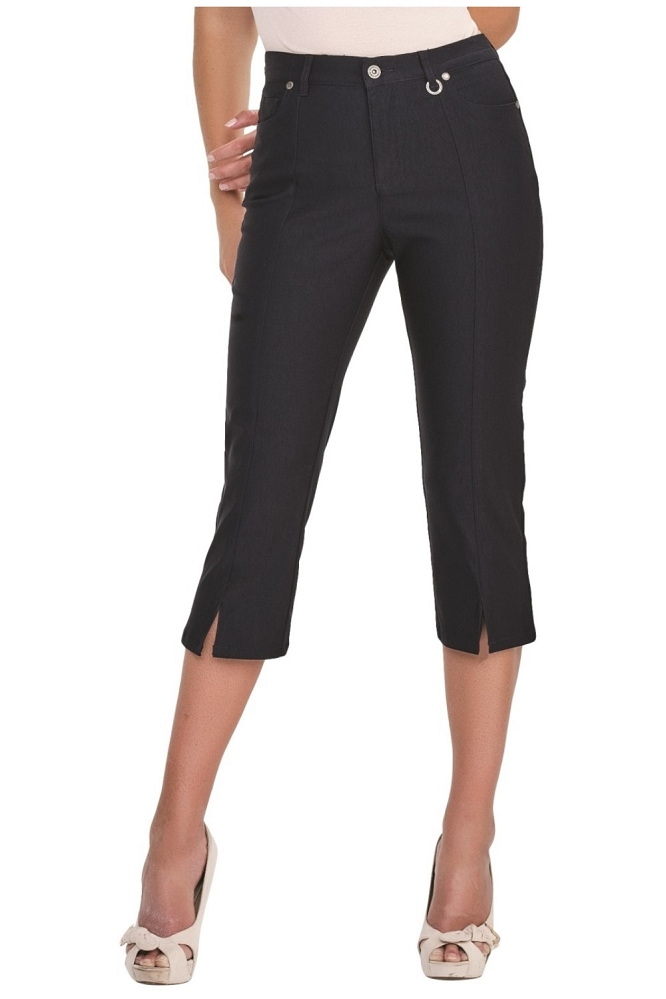 Simon Chang Micro Twill Capri, Style 5353, Color Navy