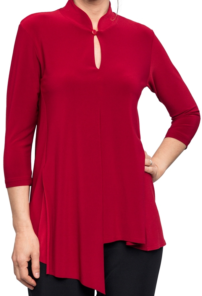 Sympli Double Over Top 3/4 Sleeves Style 22156-2 Color Scarlet