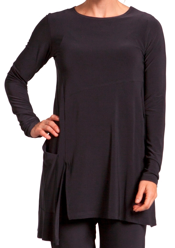 Sympli Chop Tunic 3/4 Sleeves Color Black