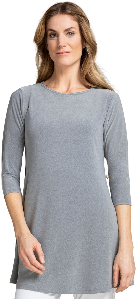 Sympli Womens 3/4 Sleeves, Trapeze Tunic Style 23155-2, 3 Colors Available