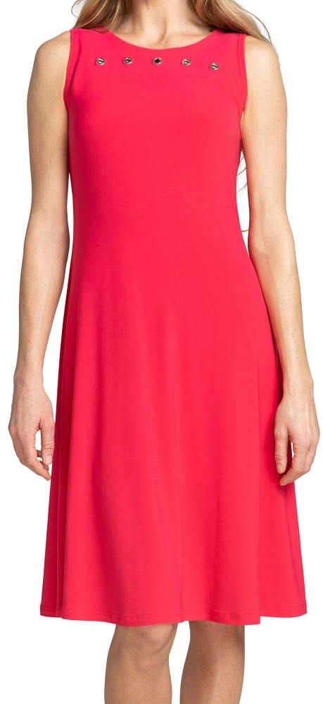Sympli Womens Sleeveless Halo Tank Dress Style 28106, 2 Color Available