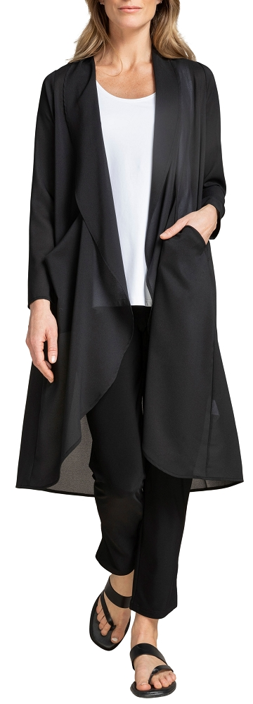 Sympli Womens Whisper Coat Style 9506, Color Black Available