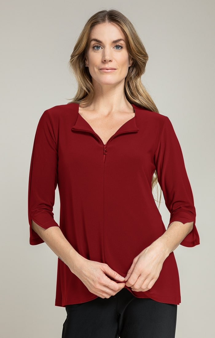 Sympli Womens Zest It Up T, 3/4 Sleeves Style 22216X-2, 3 Colors Available