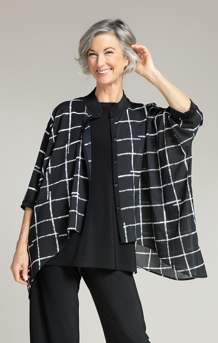 Sympli Womens Whisper Boxy Shirt Style 9401, 2 Colors Available