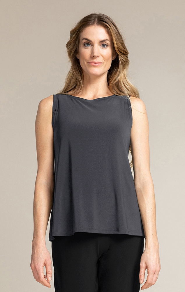 Sympli Womens Trapeze Tank Top Style 21155, 4 Colors Available