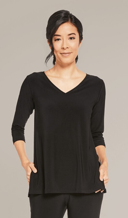 Sympli Womens Go to V-Neck T Relax Top Style 22170-2,  Colors Available