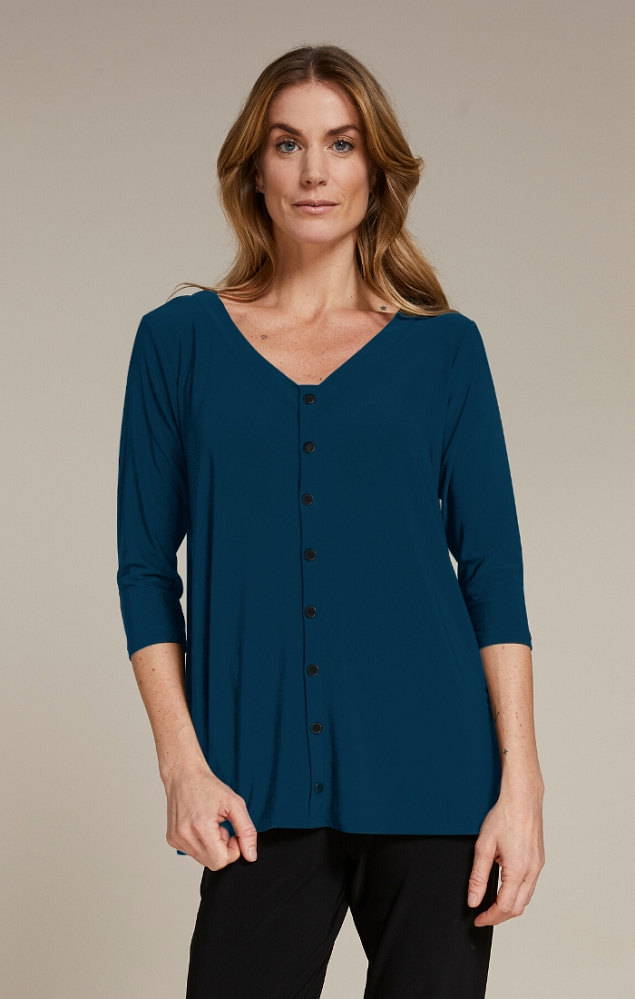 Sympli Icon Reversible Top Style 22220Z-2, 3/4 Sleeves, 2 Colors Available