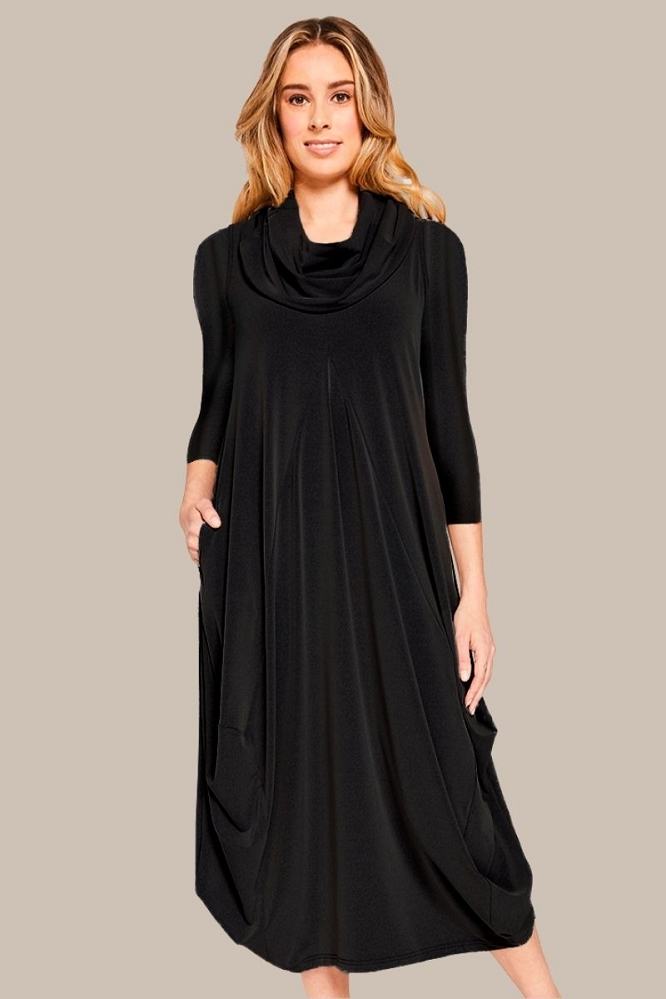 Sympli Womens Dream Dress, 3/4 Sleeves, Style 28109-2 Color Black