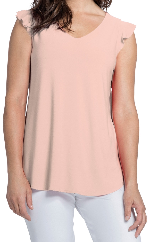 Sympli Womens Sleeveless Romance Top Style 21161, Color Blush