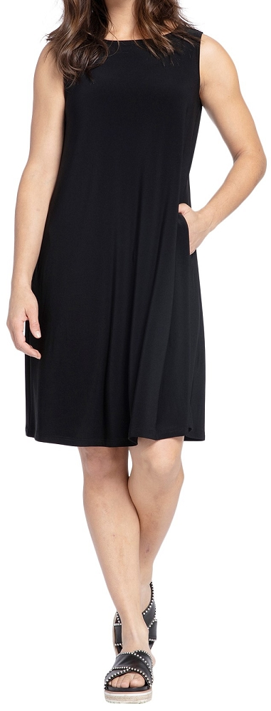 Sympli Womens Sleeveless Trapeze Dress Style 2894S, 3 Colors Available