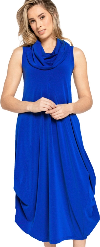 Sympli Womens Sleeveless Dream Dress Style 28104 Color Lapis