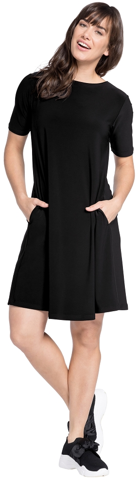 Sympli Womens Trapeze Dress Short Style 2895S, 3 Colors Available
