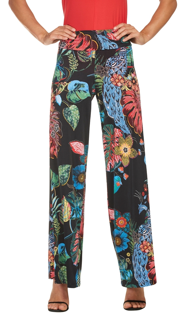 Frank Lyman Womens Tropical Pants, Style 181552, Multicolor