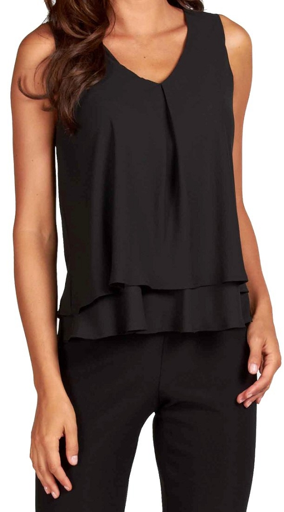 Frank Lyman Womens Chiffon Tank Top, Style 61175, 6 Colors Available