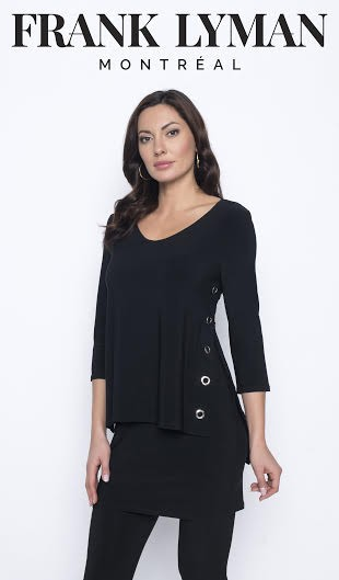 Frank Lyman Womens Knit Top, Style 203026 Color Black